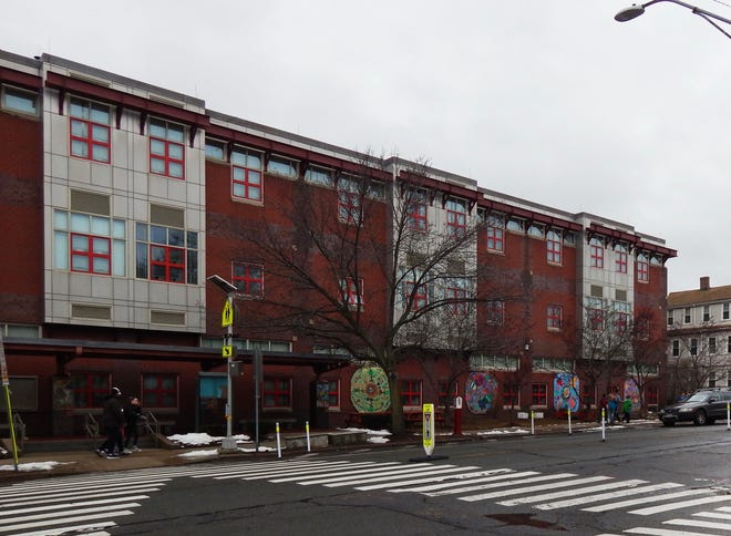 The West Somerville Neighborhood School, pictured in 2019, will be one of the first three schools to reopen.