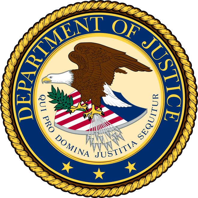 Seal of the Department of Justice.
