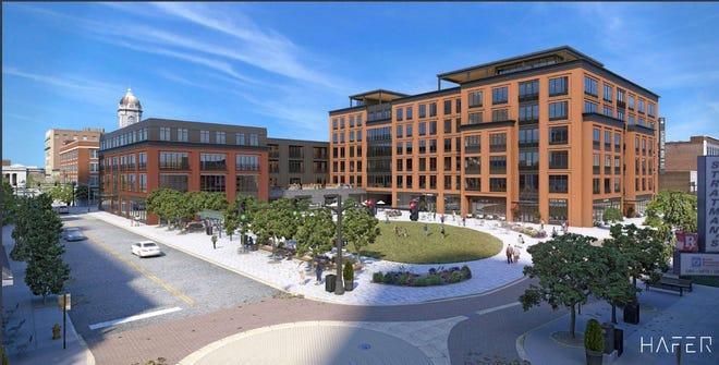 Renderings for updated Fifth and Main redevelopment