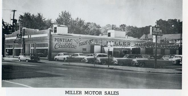 MIller Motor Sales was a long time business in Fremont in the 1950s.
