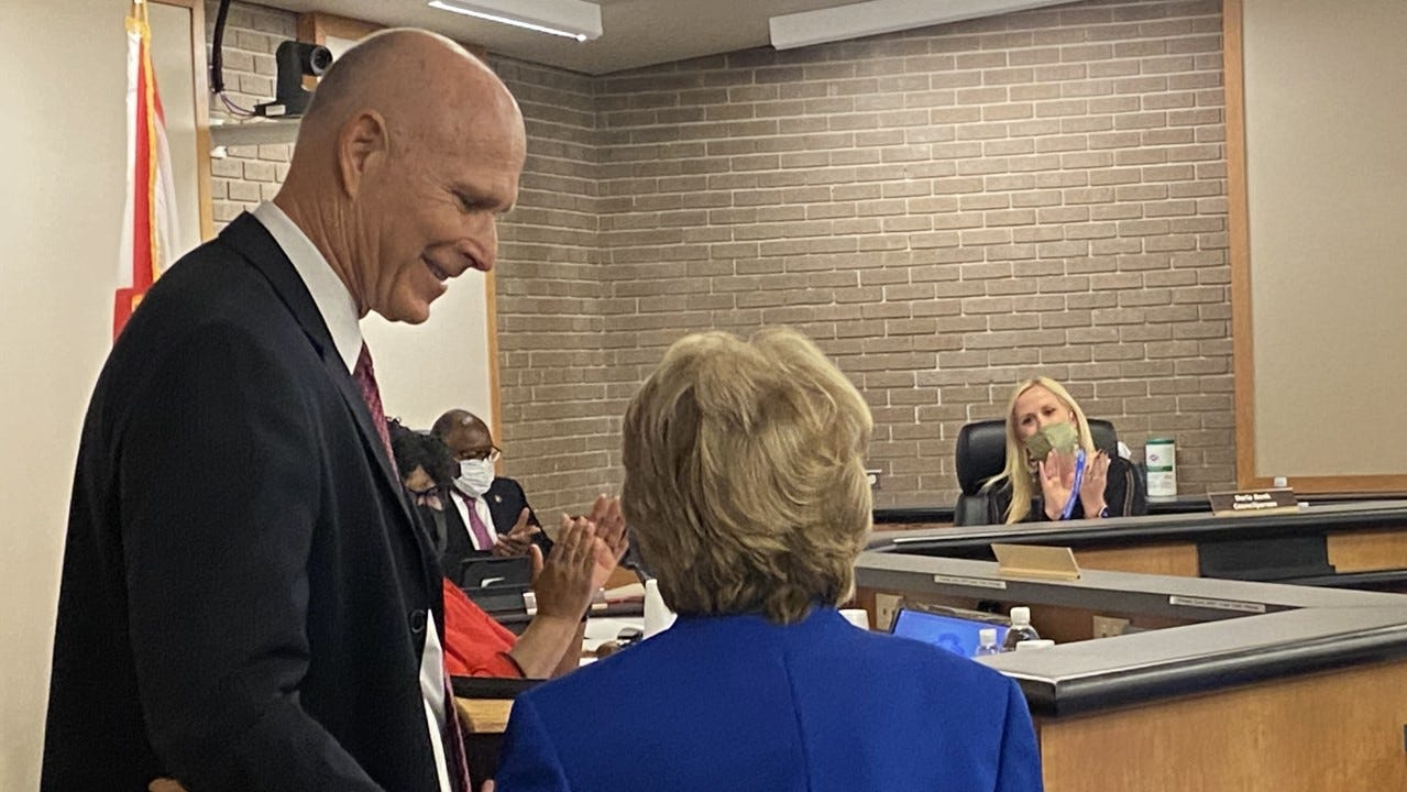 """Liston """"Lin"""" Bochette III was sworn in on Monday to represent the residents of Ward 4 at the Fort Myers city council."""