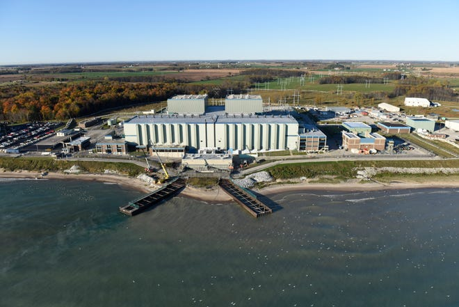 Aerial view of Point Beach Nuclear Plant in Two Rivers on Oct. 14, 2015.