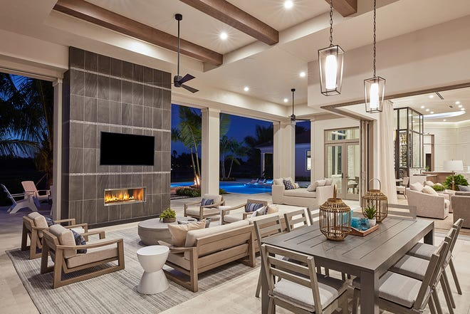 The Newport, with its incredible outdoor living area, was Stock Custom Homes' last model in Quail West.