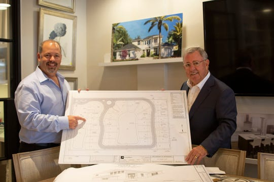 Steve Fiterman (R) owner of Distinctive Communities™ and developer of The Enclave of Distinction and Matthew Fiterman, (L) owner of Distinctive Residential Construction are expanding two of the original floor plans at The Enclave of Distinction to accommodate requests for more space.