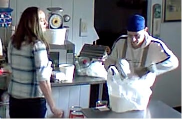 Northern York County Regional Police said these two people are suspected of stealing $39 worth of ice cream from Beck's Ice Cream's Manchester Twp. stand on Nov. 14, 2020.