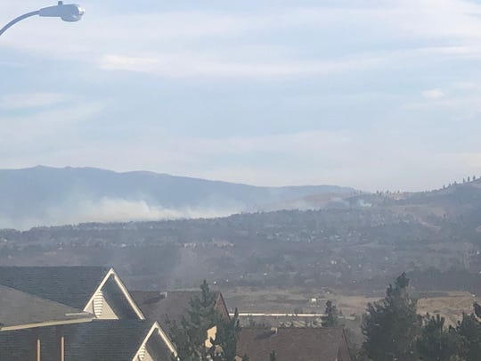 A fire burns in West Reno on Nov. 17, 2020.