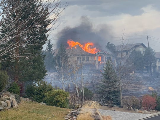 Structure burned during the fire in Painhafen in the area of the Kaulin ranch November 17, 2020