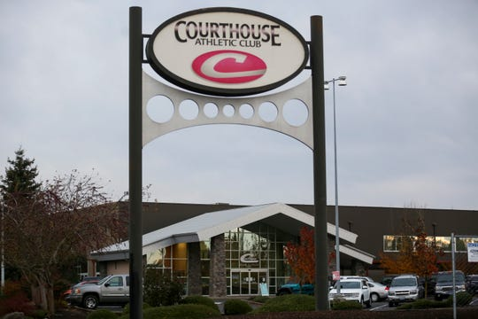 Courthouse Club Fitness on Monday, Nov. 16, 2020 on Devonshire Court Northeast in Salem, Oregon. The fitness center has announced on it's Facebook page that it will remain open during the two-week freeze mandated by Gov. Kate Brown to reduce the spread of COVID-19.