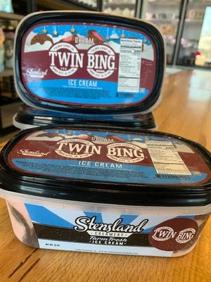 Stensland Creamery started selling quart-sized containers of Twin Bing ice cream after finalizing a partnership with Palmer Candy Co. in Sioux City.
