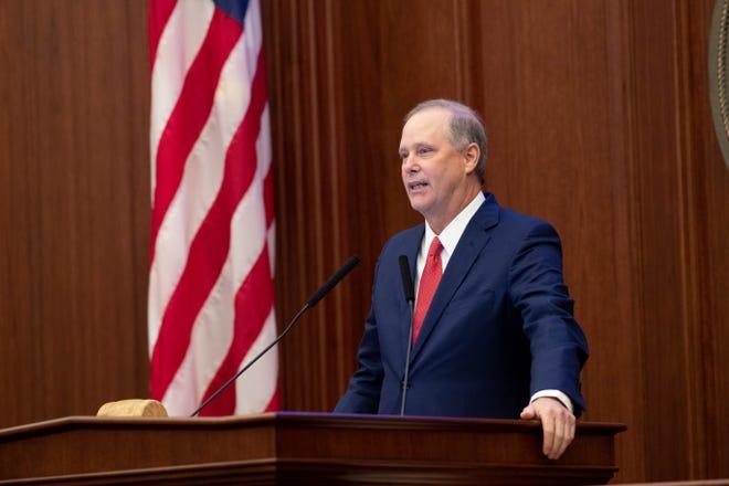Senate President Wilton Simpson during the Florida Legislature's Organization Session at the Florida Capitol Tuesday, Nov. 17, 2020.