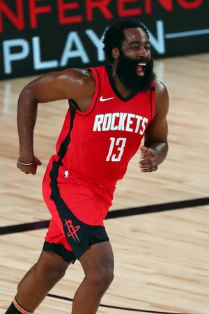The Houston Rockets traded James Harden in a four-team deal that sends him to the Brooklyn Nets.