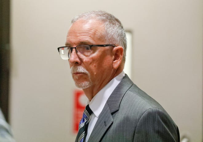 Former UCLA gynecologist James Heaps appears in Los Angeles Superior Court in this June 26, 2019, file photo.