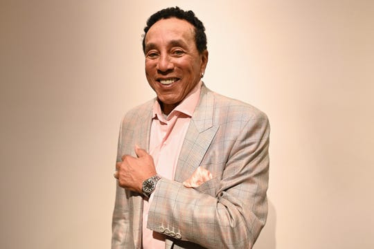 Legendary Motown singer and producer Smokey Robinson, pictured in Los Angeles in January.