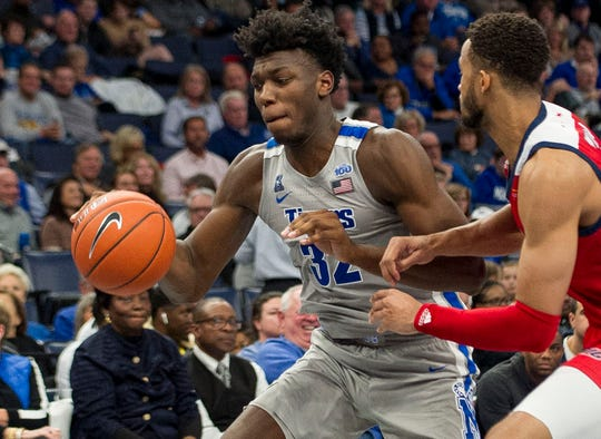 James Wiseman played just three games for Memphis, but impressed with an average of 19.7 points, 10.7 rebounds and three blocks.