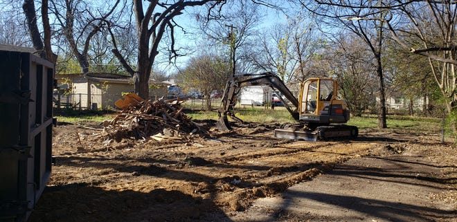 The City of Ardmore demolished a condemned home on B Street NE earlier this week. They hope to tear down three or four more before the end of the year.