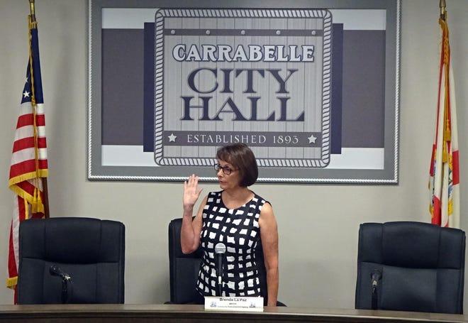 Carrabelle Mayor Brenda La Paz is sworn in