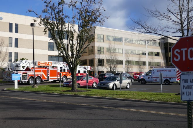 Fire and rescue personnel responded to an electrical fire in the St. Clare Building at St. Mary Medical Center in Middletown Wednesday morning. The St. Clare and adjacent Franciscan buildings were evacuated but the hospital was not.