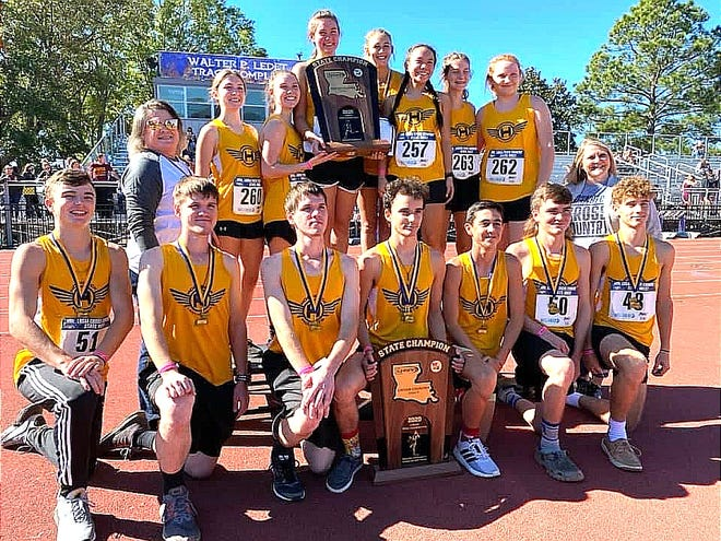 The Hornbeck Hornets and Lady Hornets repeated as Class C state champions on Monday by dominating the field as the LHSAA state meet in Natchitoches.