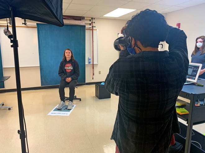 BHS School Portrait Day was student-run by BHS Photo 2 students.