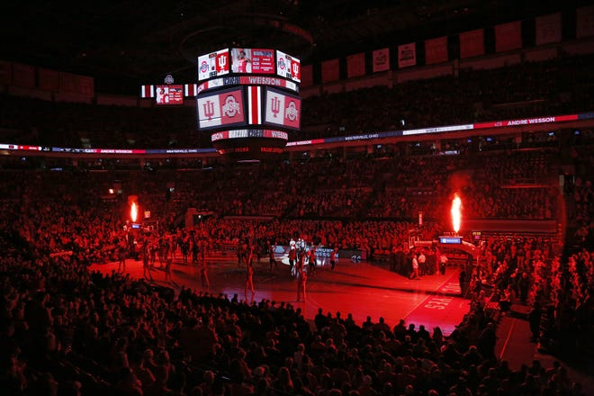 Ohio State Buckeyes forward Andre Wesson (24) is introduced prior to the NCAA men's basketball game against the Indiana Hoosiers at Value City Arena in Columbus on Saturday, Feb. 1, 2020. [Adam Cairns/Columbus Dispatch]