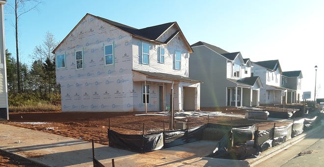 The City of Lexington has seen a boom in housing divisions, including this 88-unit, single-family home subdivision at GlenOaks