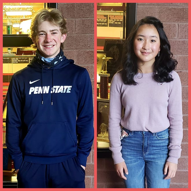 North Pocono junior Bill Pabst and freshman Gwen Powell each won PIAA District 2 AAA individual golf championships this fall, and both went on to earn medals at the state tournament.