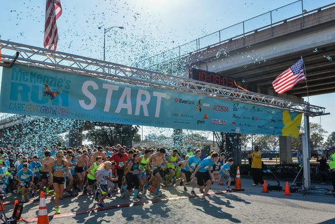 The 2020 version of the Jacksonville-based McKenzie Noelle Wilson Foundation's annual fundraising 5k — the start of a previous run is shown here — will be virtual because of the COVID-19 pandemic.