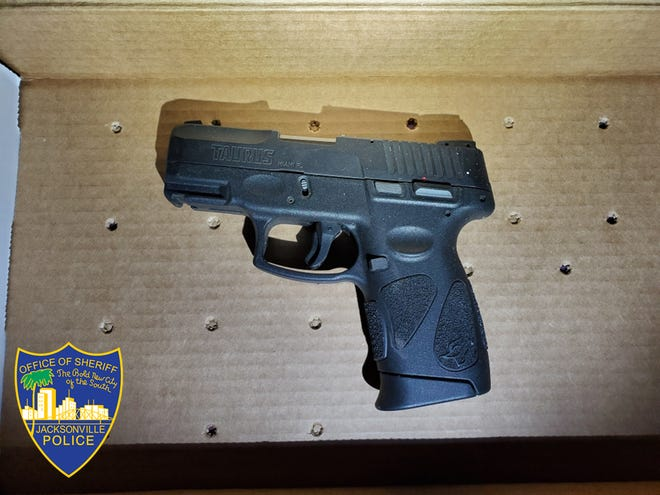 Police say this was the Taurus handgun investigators found in the car.