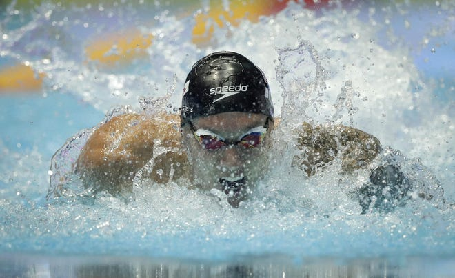 Caeleb Dressel swims in his men's 100-meter butterfly semifinal at the World Swimming Championships in 2019. The Clay High School graduate is eligible to swim as many as a half-dozen events at the U.S. Olympic Trials.
