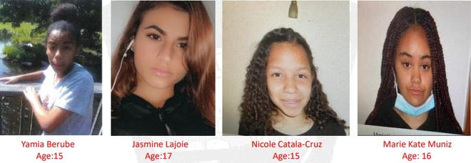 Police seek information about these four teens who were reported missing from the Deaconess Home in Fall River on Nov. 11.