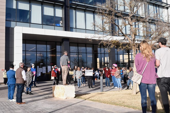 Hundreds of Lubbockites showed up to speak during a public hearing on a proposed ordinance on abortion Tuesday at Lubbock's Citizens Tower.