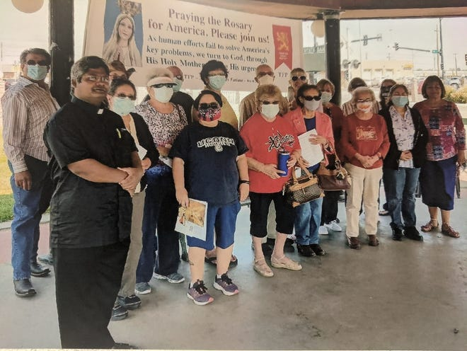 On Saturday, Oct. 10, 2020, at 12 noon a Public Square Rosary Crusade was held at Santa Fe Plaza, 1st and Santa Fe Avenue, La Junta, Colo.