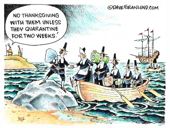 Dave Granlund cartoon on quarantines