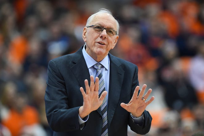 Syracuse men's basketball coach Jim Boeheim says now is not the time for him to be sitting still.