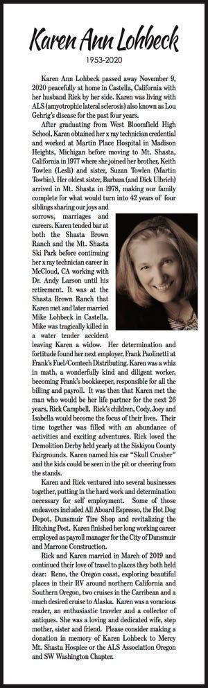 Obituary: Karen Lohbeck