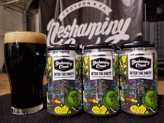 After The Party is an Irish dry stout made with Rise Up Coffee and brewed by Neshaminy Creek Brewing Company.