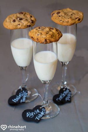 There are many factors that can impact how you plan your wedding, such as alcohol. If sobriety is part of the celebration, why not include a fun touch: such as cookies and milk in a fancy glass.