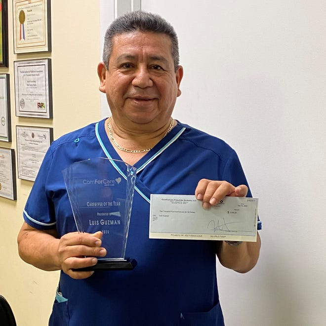 Luis Guzman, a longtime caregiver with ComForCare of Palm Beach, won the company's 2020 Caregiver of the Year award. Guzman, a West Palm Beach resident, was selected from more than 12,000 caregivers across North America.