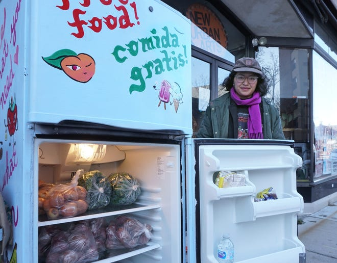 Dana Heng is the organizer of the Community Fridge, a refrigerator outside of New Urban Arts in Providence that has food meant to be shared with anyone who needs it.