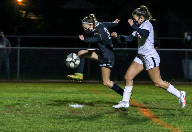 Pilgrim had a leg up on Cranston West last night as the Falcons came away with a 4-1 win and advanced to the Division I girls soccer semifinals.