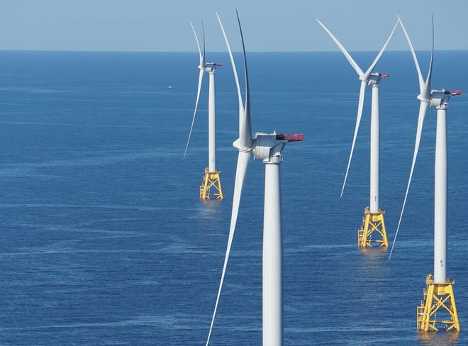If the Revolution Wind project becomes reality, there will be more wind turbines like these — which are off Block Island.