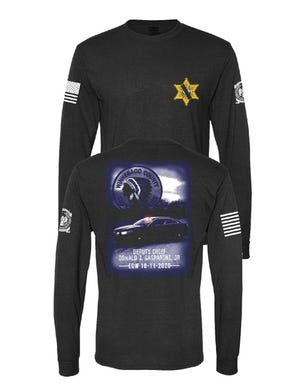 A portion of the proceeds from the sale of this shirt by Screw City Creations will benefit the family of Winnebago County Sheriff Deputy Chief Don Gasparini Jr., who died Oct. 11.