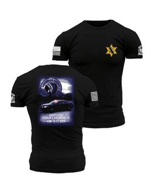This specially designed T-shirt sold by Screw City Creations of Loves Park  will honor the memory of Winnebago County Sheriff's Office Deputy Chief Don Gasparini Jr. A portion of the proceeds will benefit Gasparini's family.