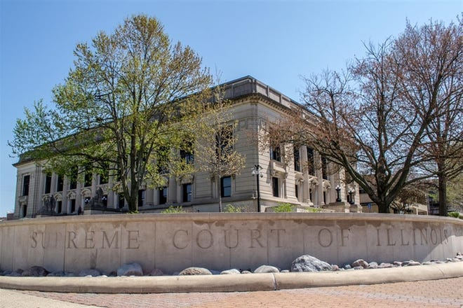 The Illinois Supreme Court building is shown here in Springfield. The state's highest court on Wednesday ordered that 10 lawsuits challenging indoor dining bans across the state by consolidated with existing cases in Sangamon County that raise the same legal questions.