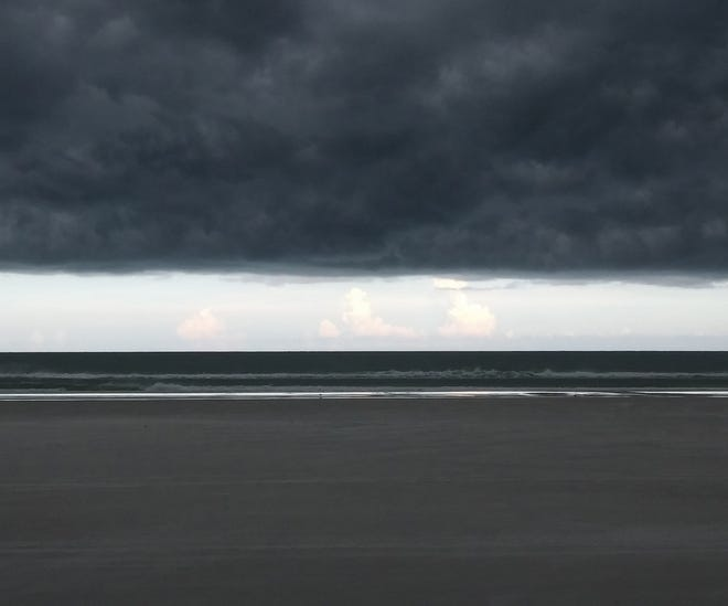 Stormfront over St. Augustine Beach in early August.