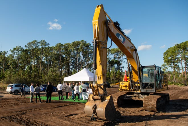 Groundbreaking for the Park Ridge townhome community under construction on Old Moultrie Road in St. Augustine.