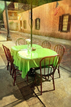 Dining on Aviles Street.