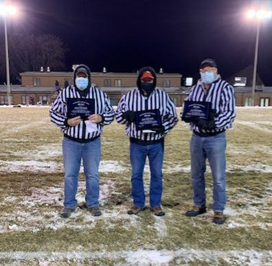 "Dutch, Spike and Jim Schroepfer honored for service on ""Chain Gang"" at St. Mary's"