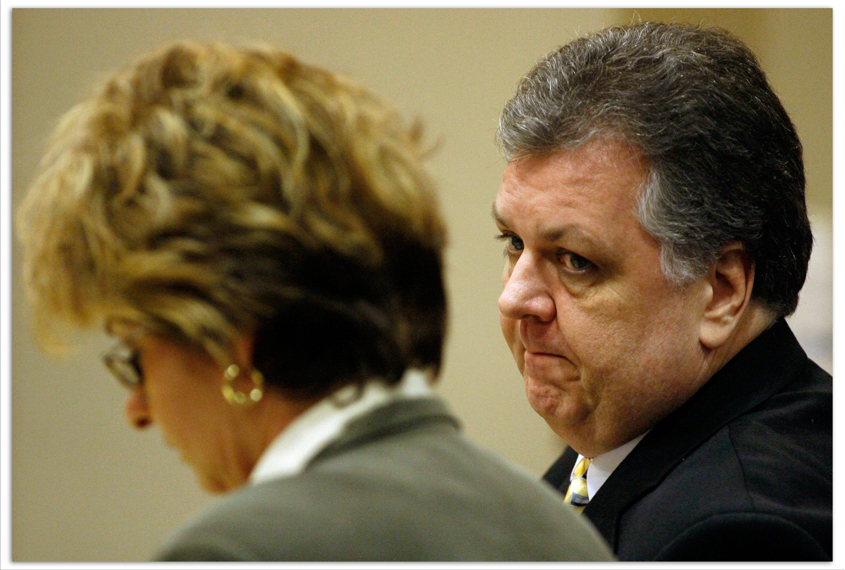 Joseph DeGregorio is seen during his June 2007 trial for sexual battery. John Smith was a key witness in the trial.