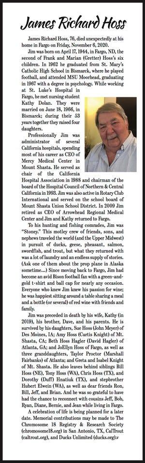 Obituary: James Hoss